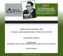 """Convocatoria a los científicos que laboran en México para concursar por las Cátedras de Investigación """"Marcos Moshinsky"""" 2013"""