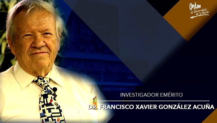 Francisco González Acuña designado Investigador Emérito de la UNAM