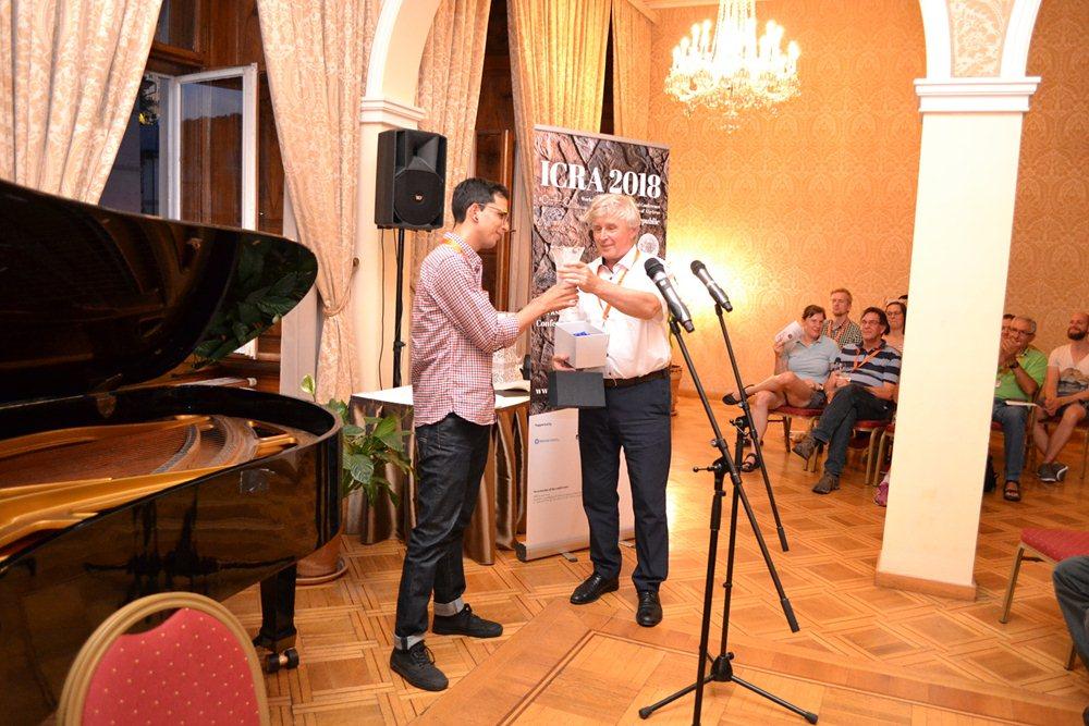 Gustavo Jasso Ahuja, ganador del Premio ICRA 2018