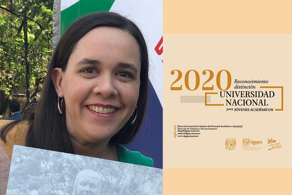 Isabel Hubard es distinguida con el Reconocimiento Universidad Nacional para Jóvenes Académicos 2020