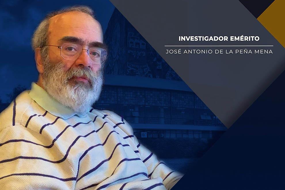 José Antonio de la Peña Mena es nombrado Investigador Emérito