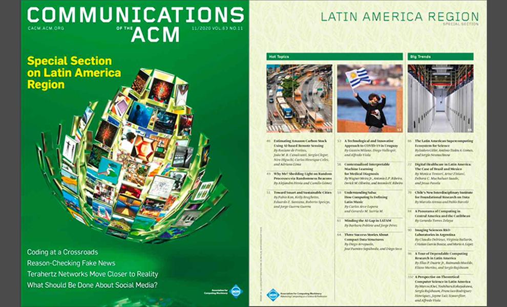 La revista Communications of the ACM, prestigiosa en el área de cómputo, dedicó su número especial a importantes proyectos de la Facultad de Ciencias