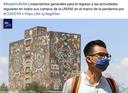 La UNAM presenta lineamientos generales para el regreso a las actividades universitarias