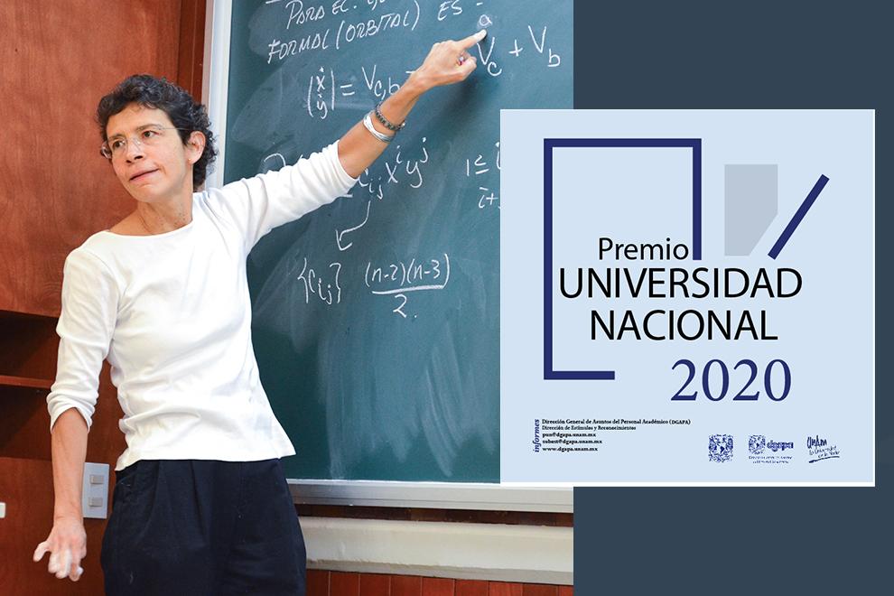 Laura Ortiz Bobadilla es distinguida con el Premio Universidad Nacional 2020 en Docencia en Ciencias Exactas