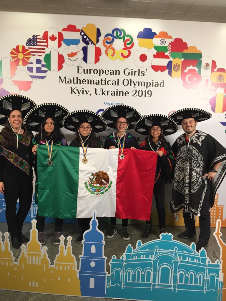 Oro para México en VIII Olimpiada Europea Femenil de Matemáticas