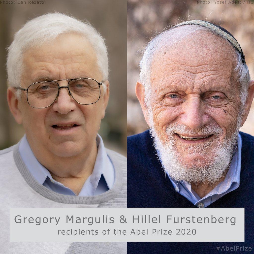 Premio Abel 2020 a los matemáticos Hillel Furstenberg y Grigory Margulis