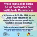 Venta de libros colecciones IMUNAM 2021