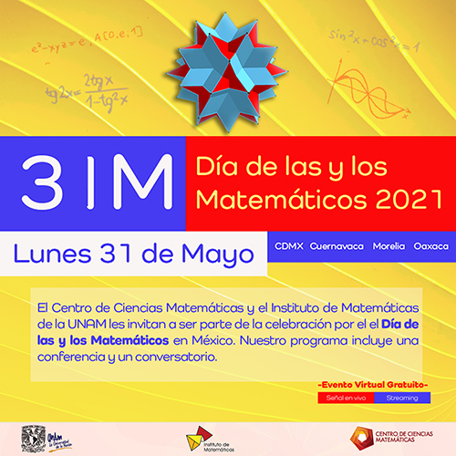 31M Celebración por el Día de las y los Matemáticos en México - 31 de mayo a 10 de junio