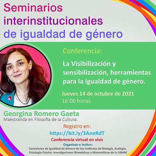 Conferencia CInIG: La Visibilización y sensibilización, herramientas para la igualdad de género