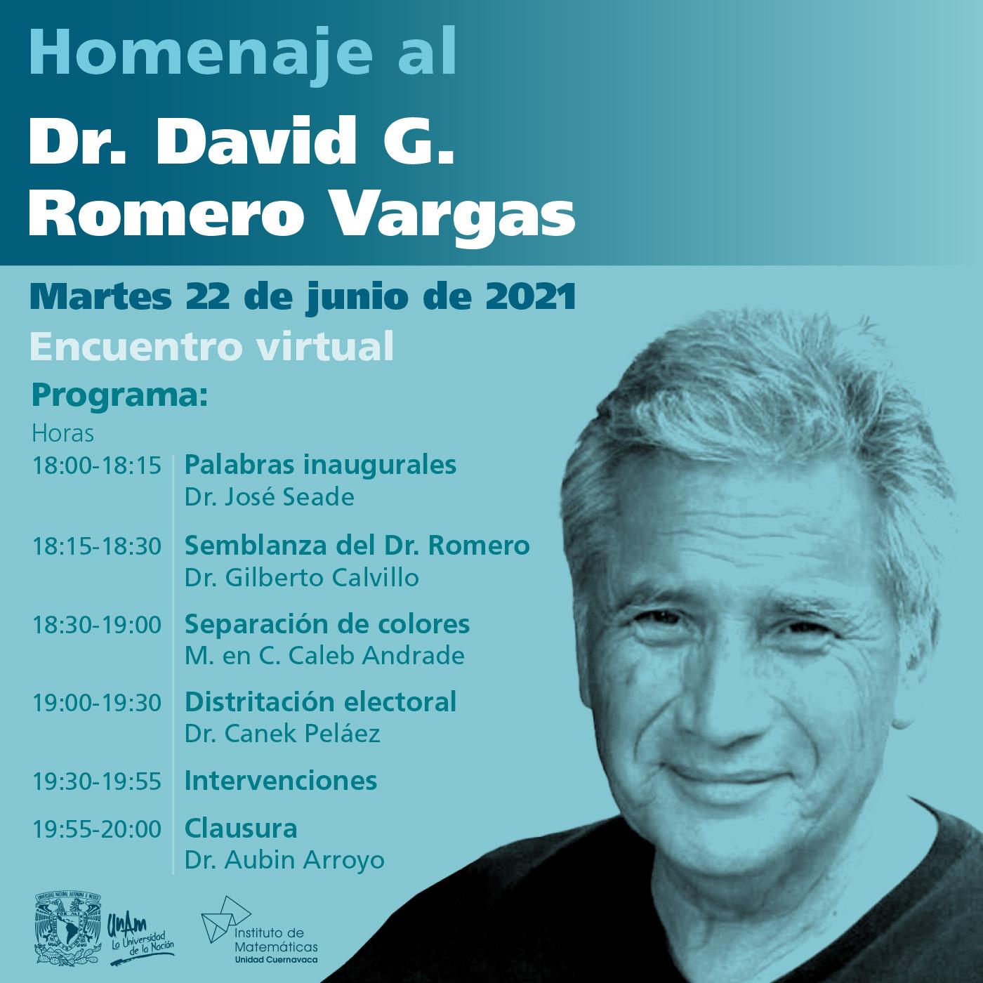 Homenaje al Dr. David G. Romero Vargas