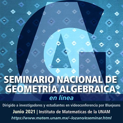 Seminario Nacional de Geometría Algebraica en línea: junio