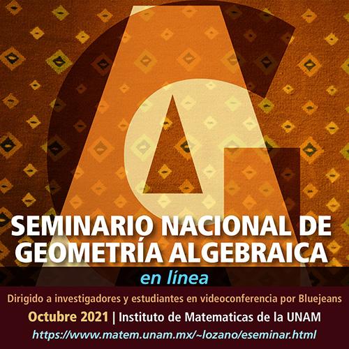 Seminario Nacional de Geometría Algebraica en línea: octubre