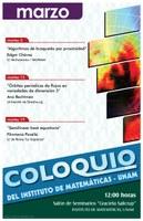 Marzo: Sesiones para el Coloquio