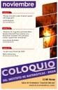 Noviembre, 2013: Sesiones para Coloquio