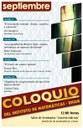 Septiembre, 2013: Sesiones para Coloquio