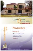 Noviembre: Coloquio Queretano