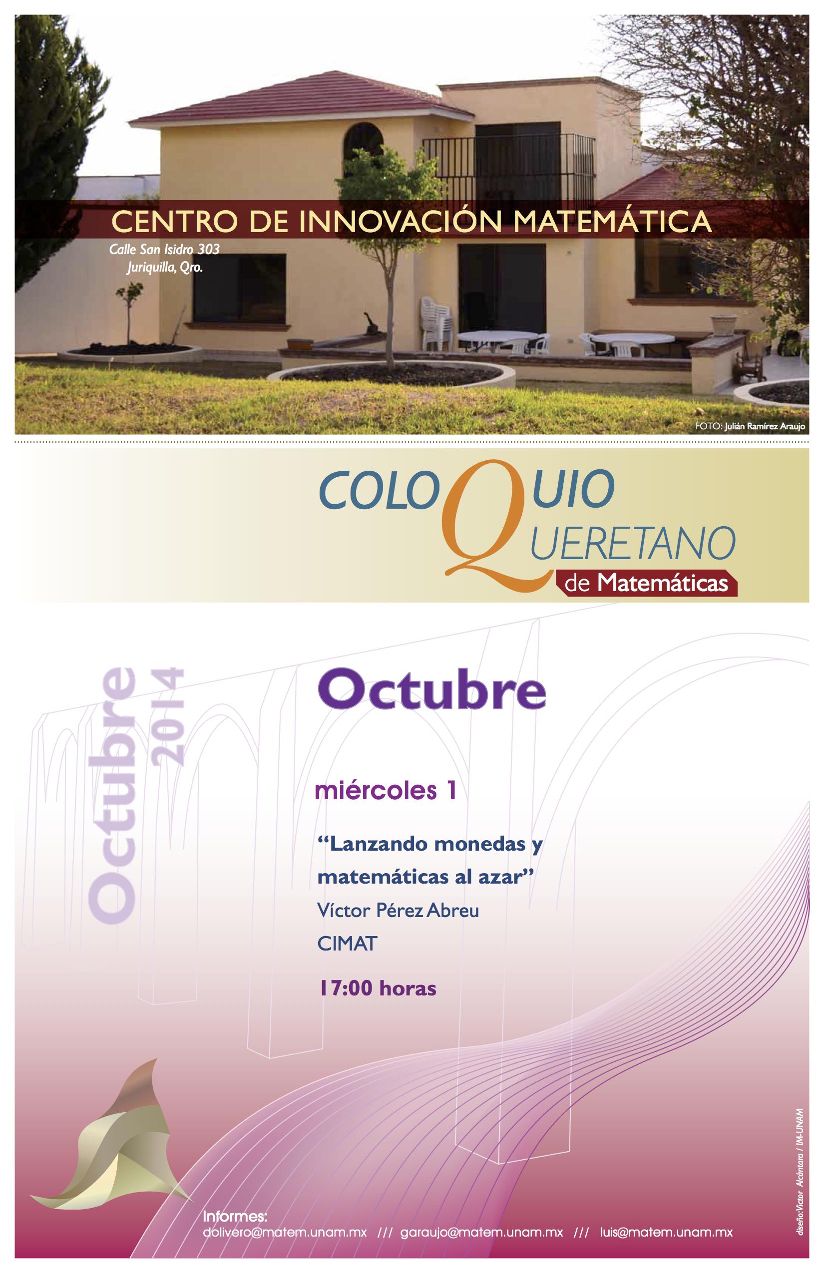 Octubre: Coloquio Queretano