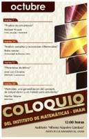 Octubre: Sesiones para el Coloquio de CU