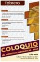 Febrero: Sesiones para Coloquio