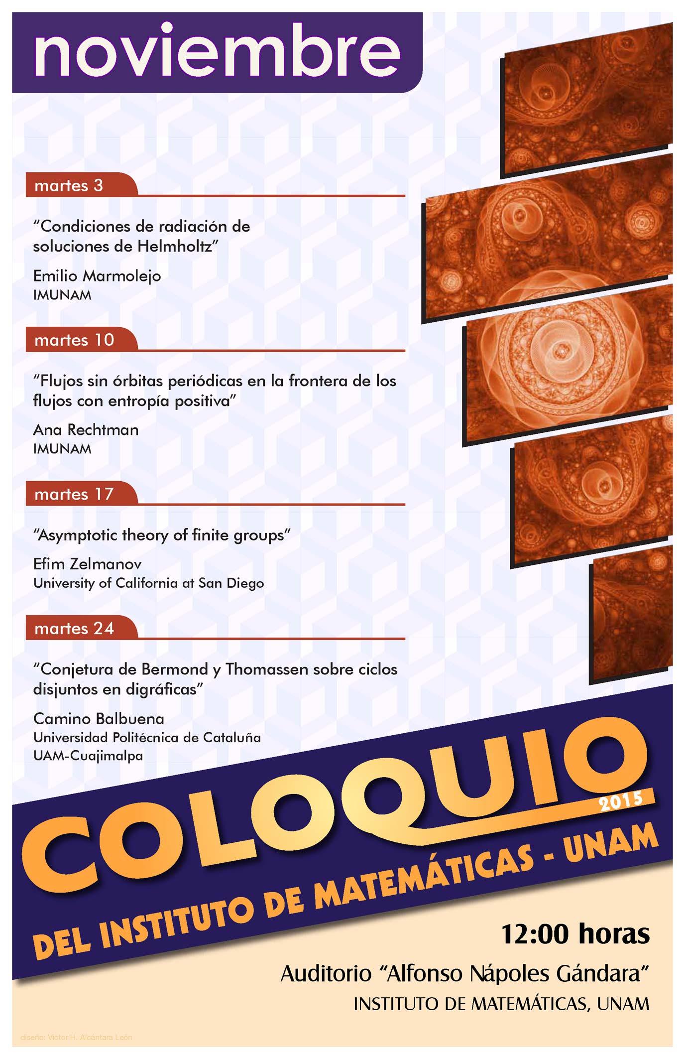 Noviembre: Sesiones para el Coloquio de CU