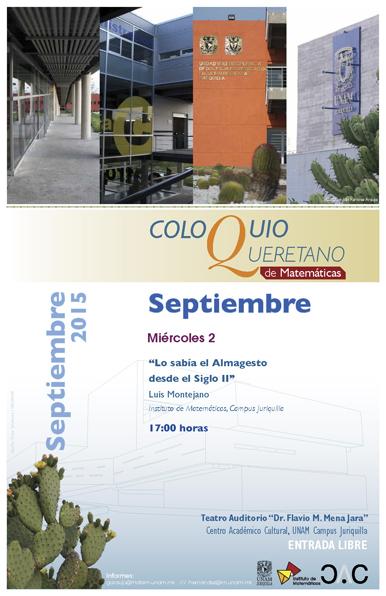 Septiembre: Coloquio Queretano