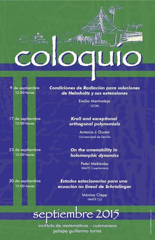 Septiembre: Sesiones para Coloquio de la Unidad Cuernavaca