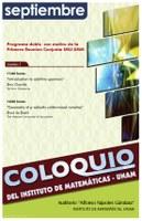 Septiembre: Sesiones para Coloquio (sesión doble)