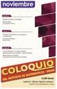 Noviembre: Sesiones para Coloquio