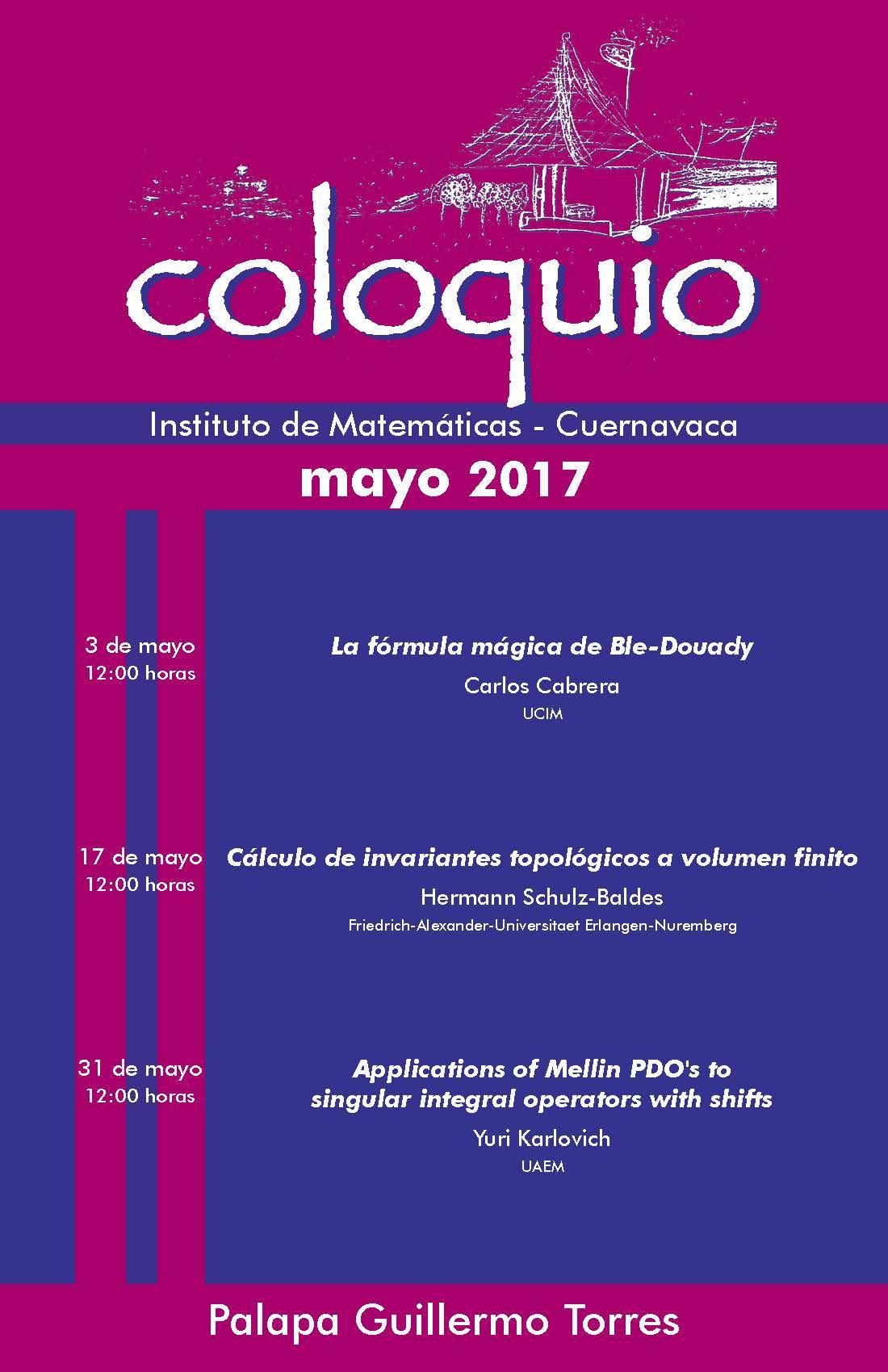 Mayo: Sesiones para Coloquio de la Unidad Cuernavaca