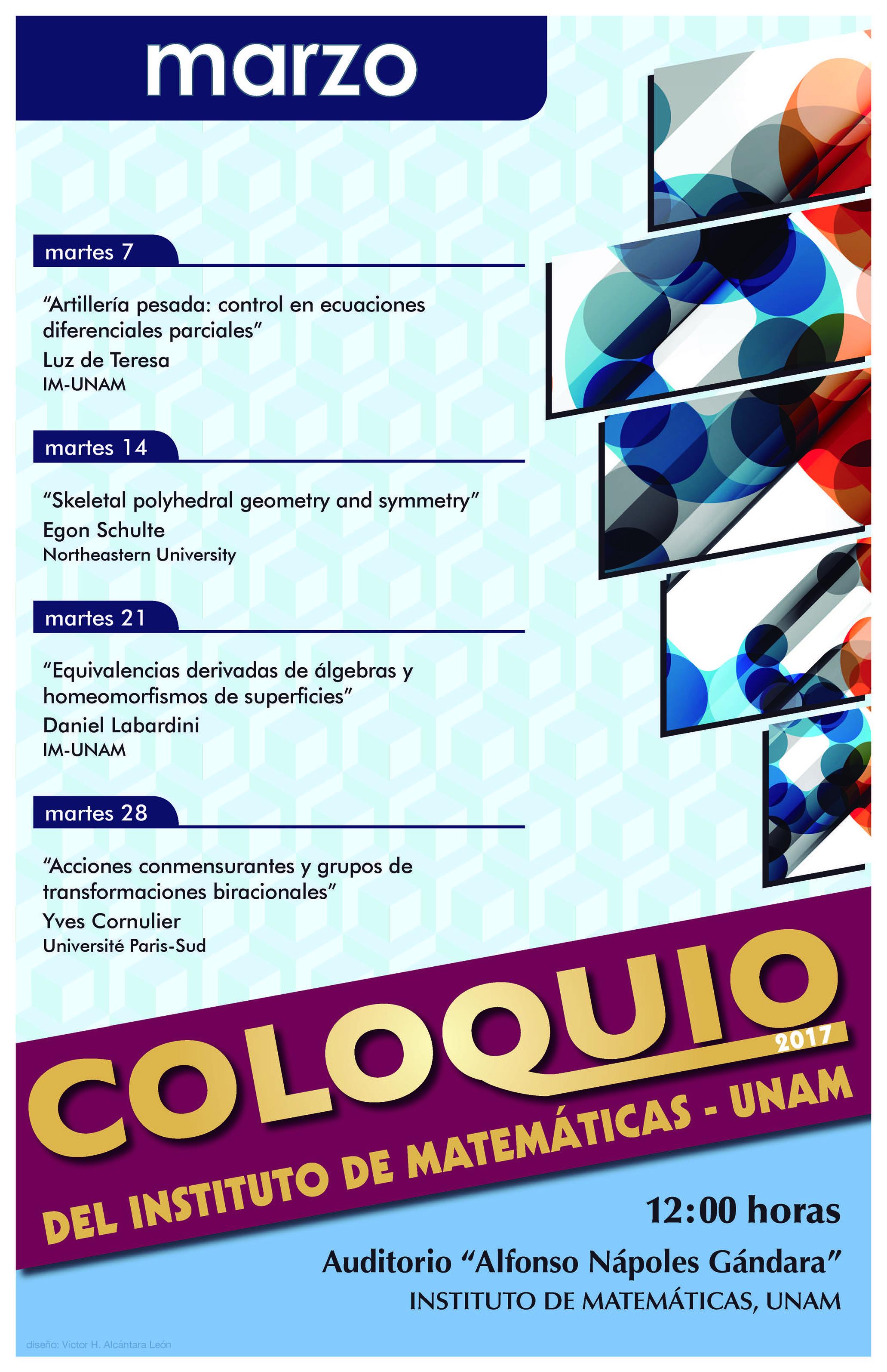 Marzo: Sesiones para Coloquio
