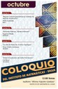 Octubre: Sesiones para Coloquio