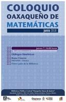 Coloquio Oaxaqueño de Matemáticas: Tertulias Matemáticas