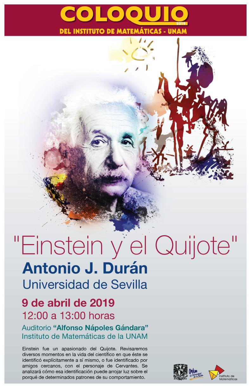 """Coloquio del IMUNAM - CU: """"Einstein y el Quijote"""""""