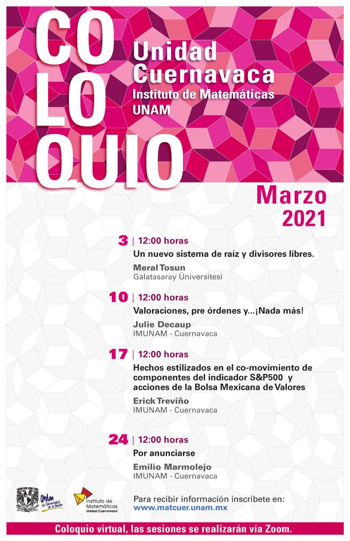 Coloquio Cuernavaca, marzo