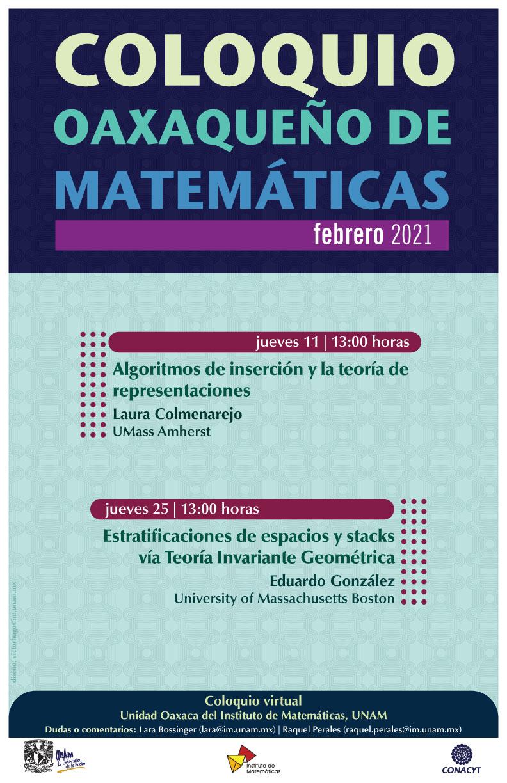 Coloquio Oaxaqueño de Matemáticas, febrero 2021
