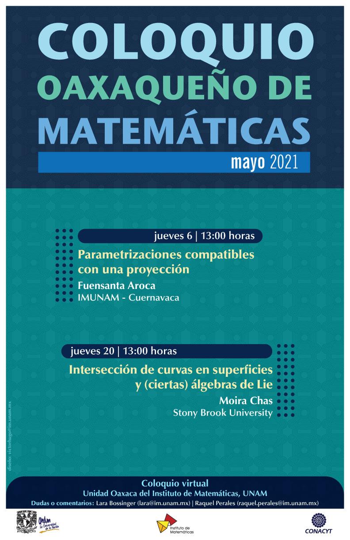 Coloquio Oaxaqueño de Matemáticas, mayo 2021