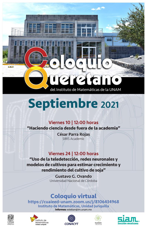 Coloquio Queretano del IMUNAM - Juriquilla, septiembre 2021