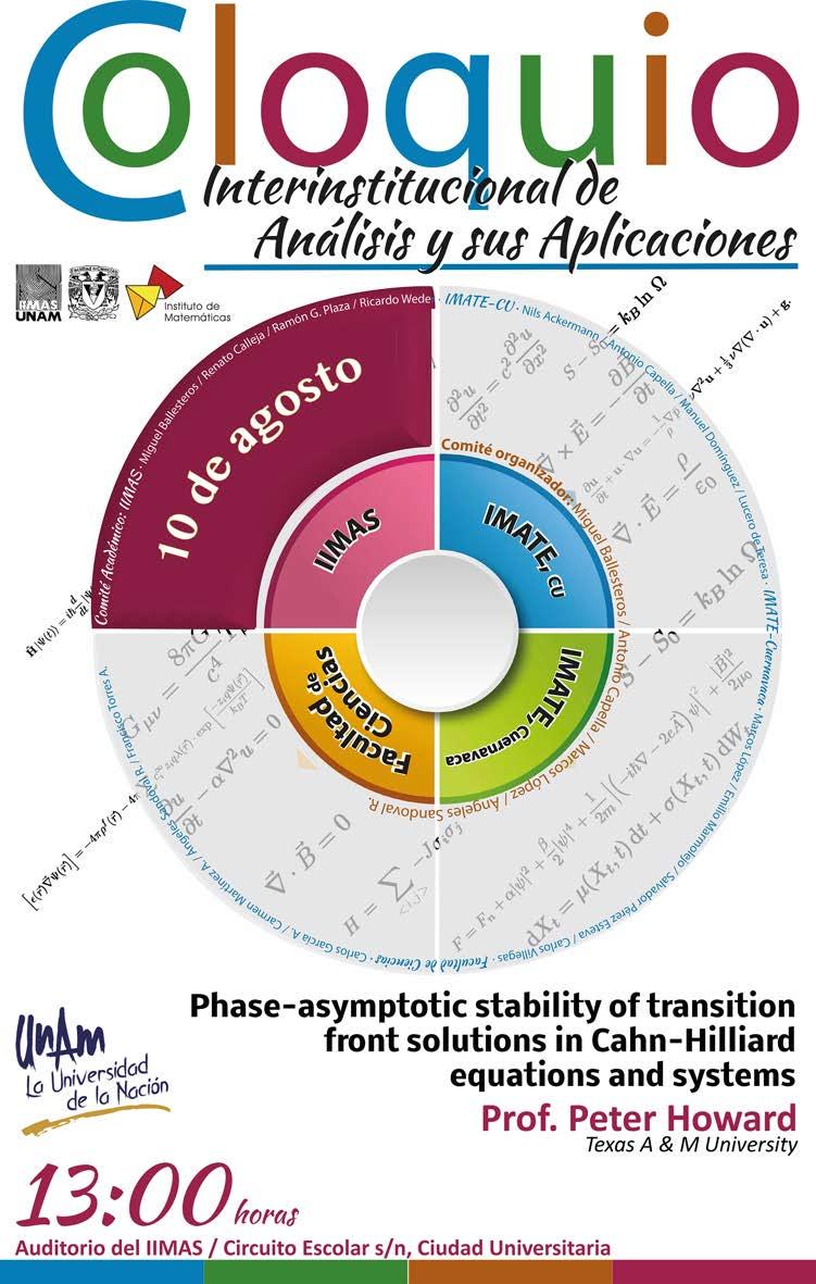 Coloquio Interinstitucional de Análisis y sus Aplicaciones