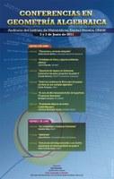 Conferencias en Geometría Algebraica