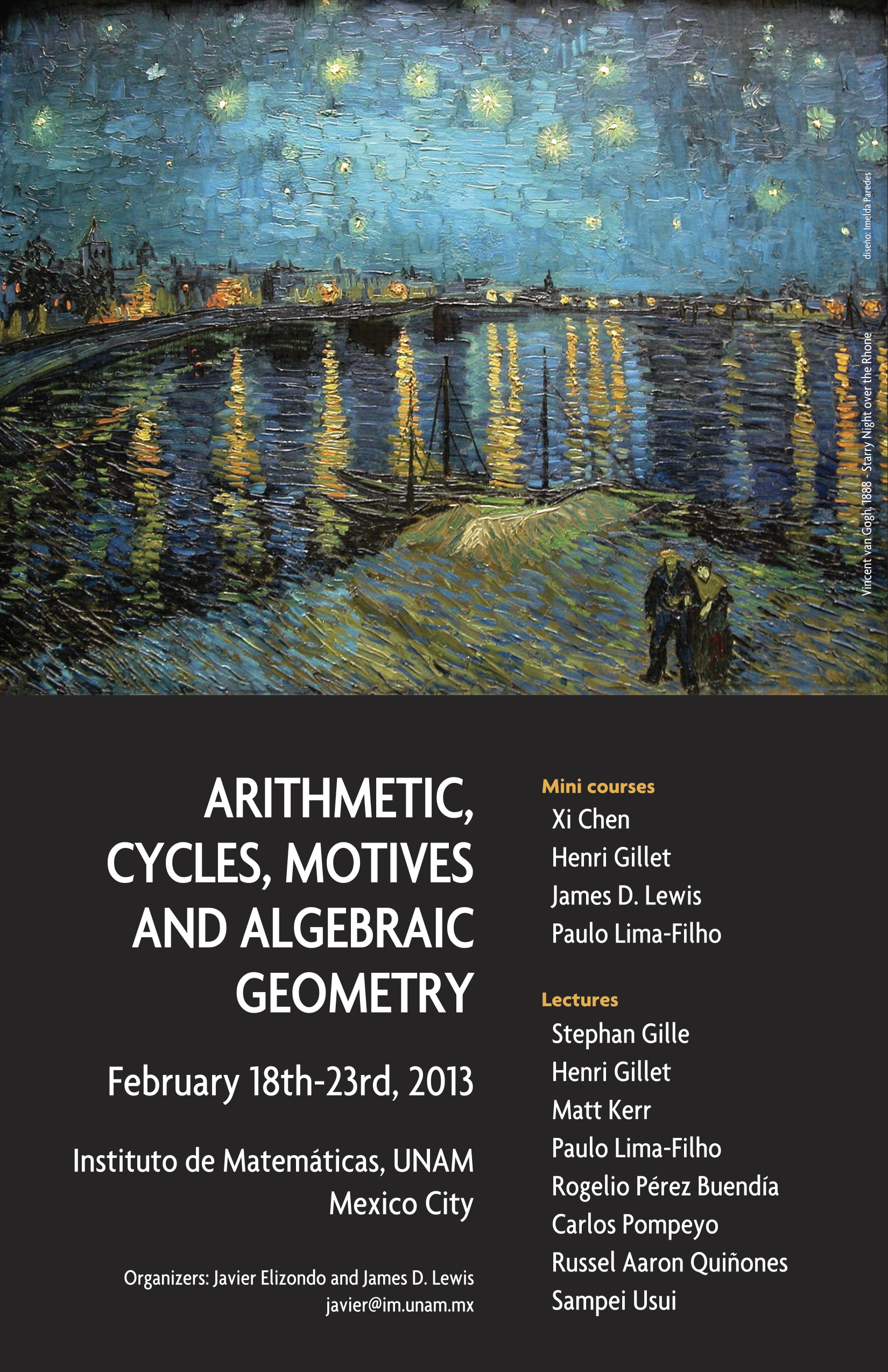 Arithmetic, cycles, motives and algebraic geometry.