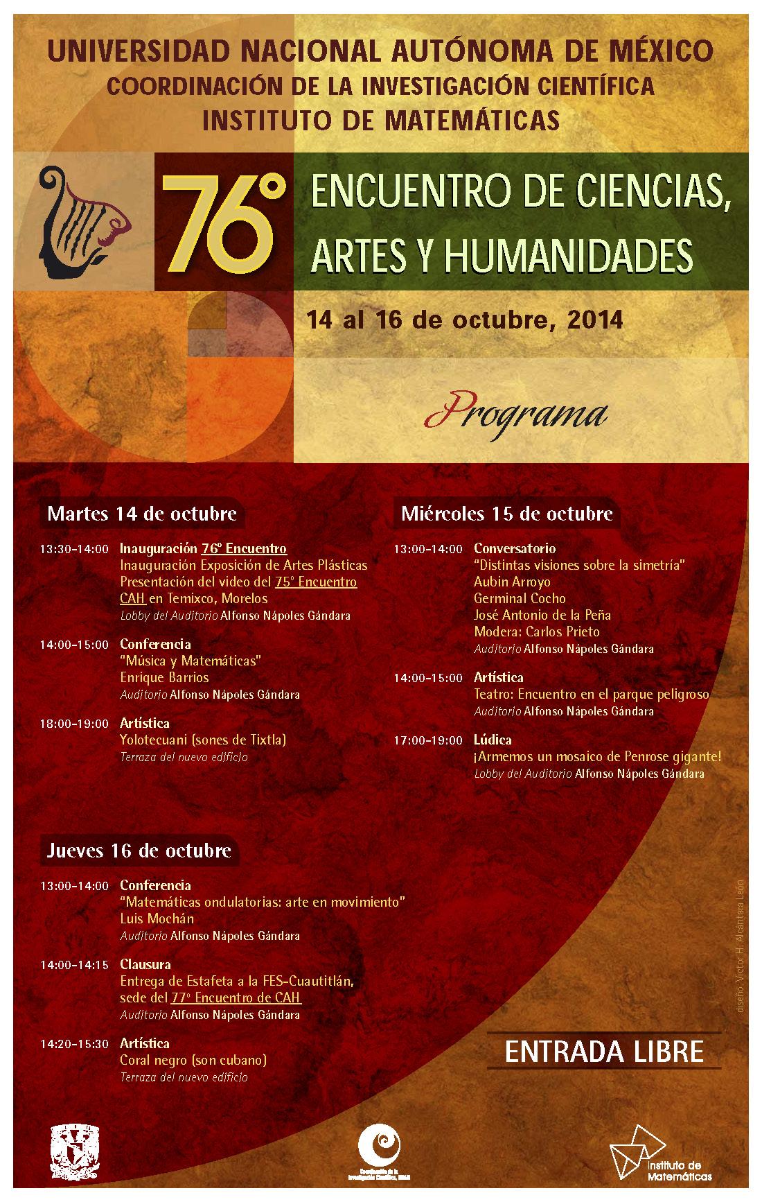 76 Encuentro de Ciencias, Artes y Humanidades