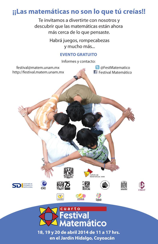 (Cancelado) Cuarto Festival Matemático