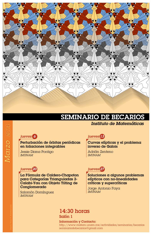 Marzo: Sesiones del Seminario de Becarios