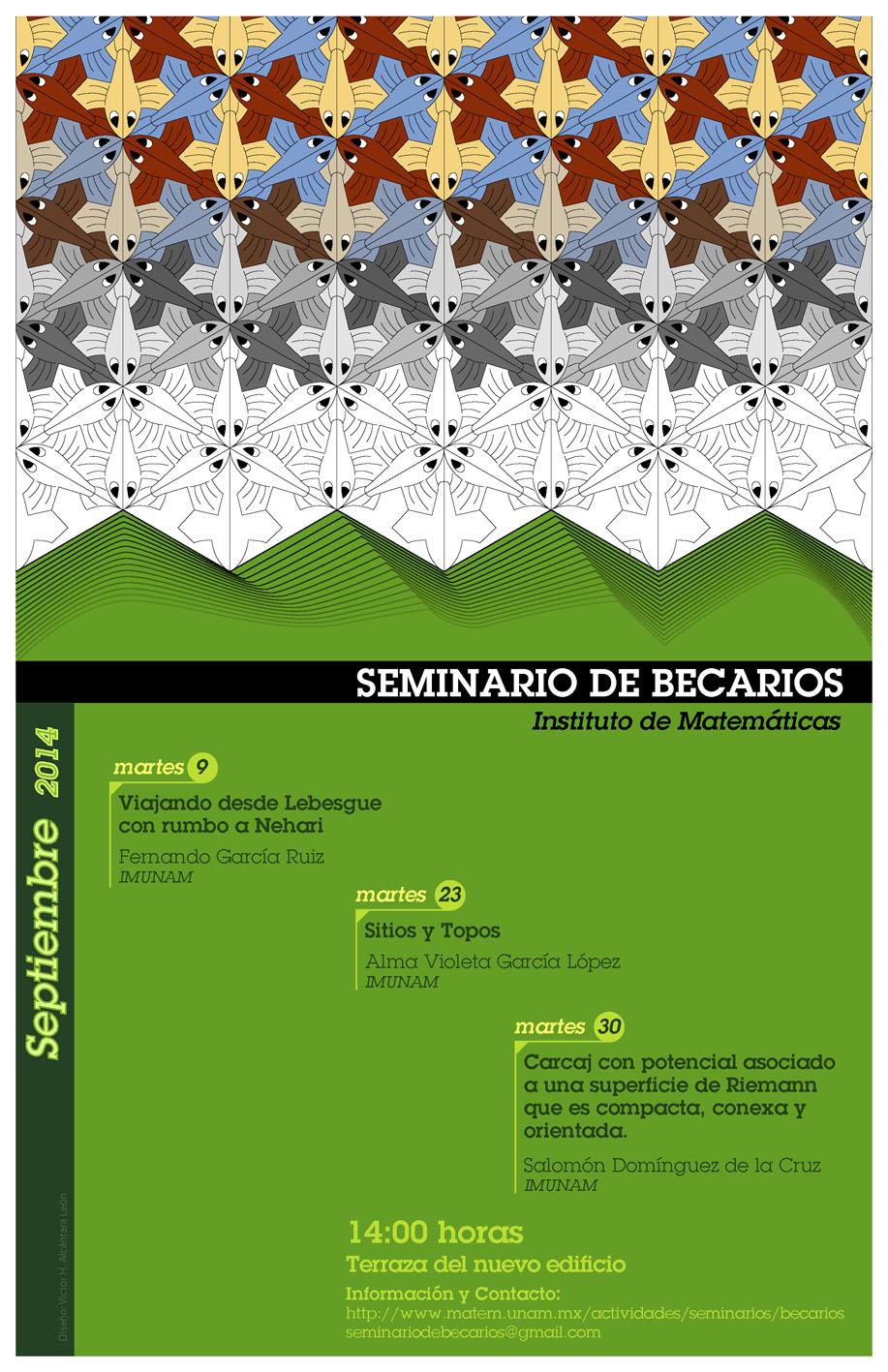 Septiembre: Sesiones del Seminario de Becarios