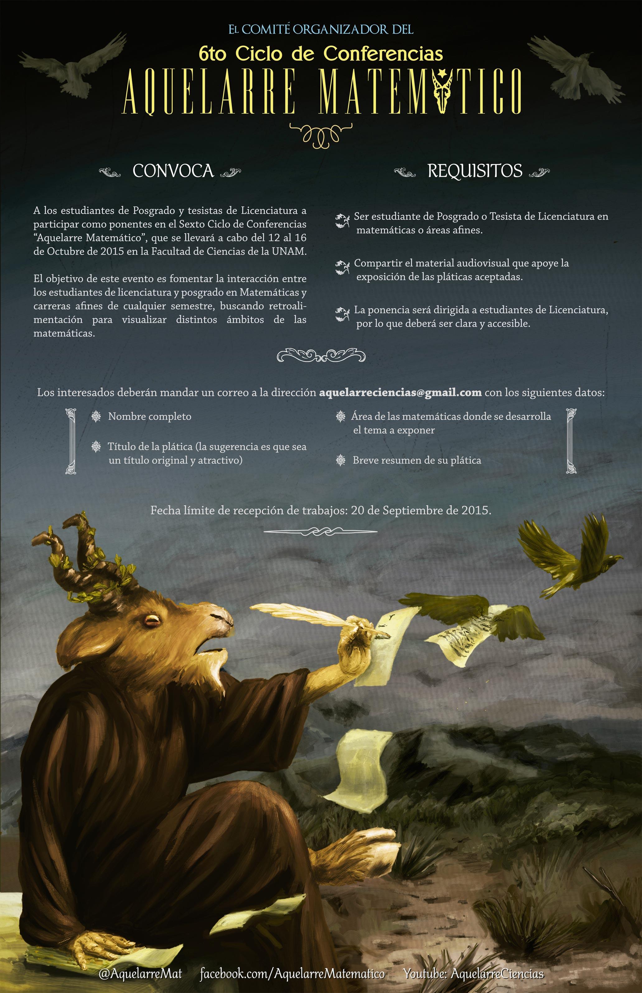 """Convocatoria para 6to ciclo del """"Aquelarre Matemático"""""""