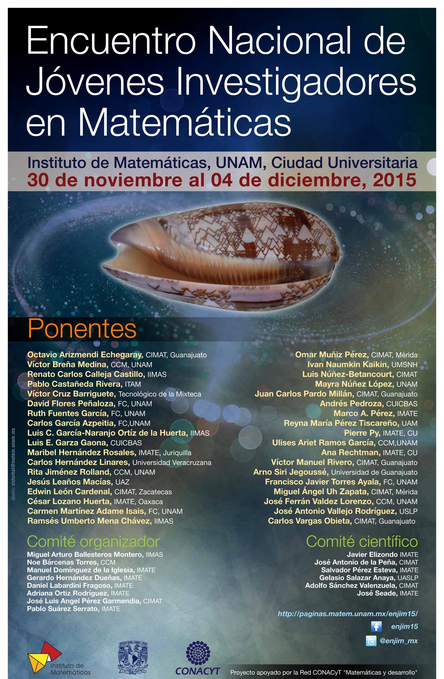 Encuentro Nacional de Jóvenes Investigadores en Matemáticas