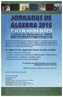 Jornadas de álgebra 2015