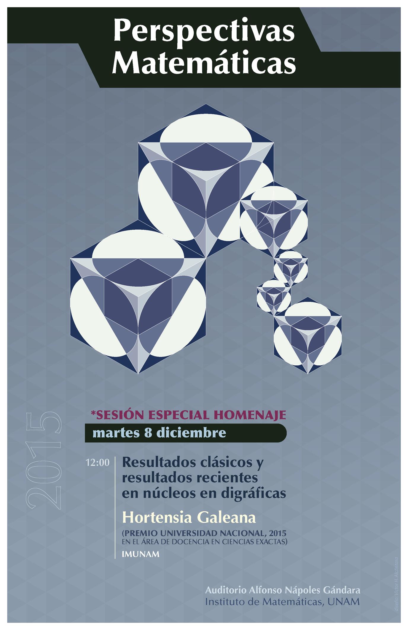 Perspectivas Matemáticas: Diciembre - SESIÓN HOMENAJE -