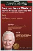 Perspectivas Matemáticas: Prof. James Mirrlees, Premio Nobel Economía, 1996