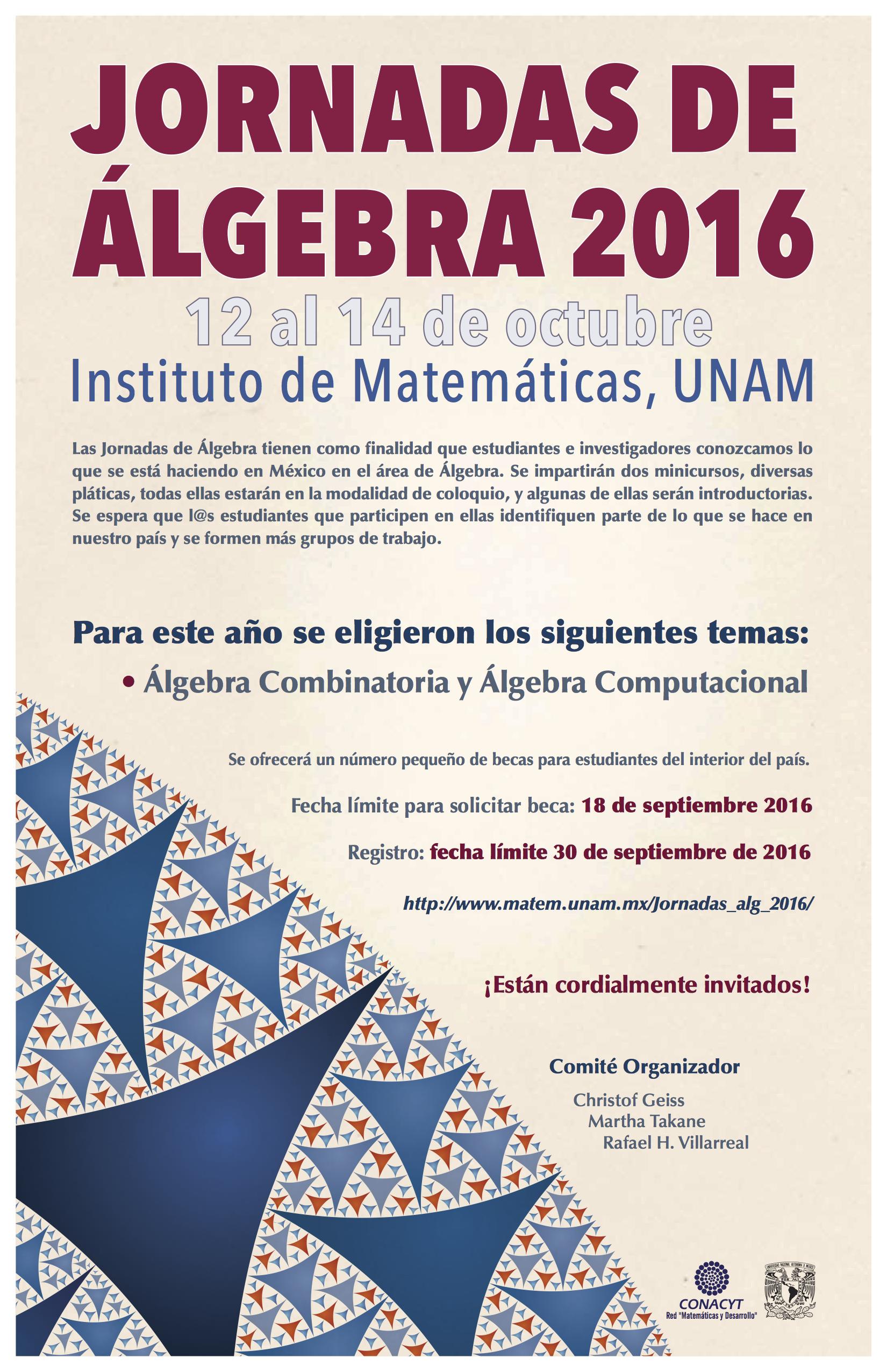 Jornadas de Álgebra de 2016